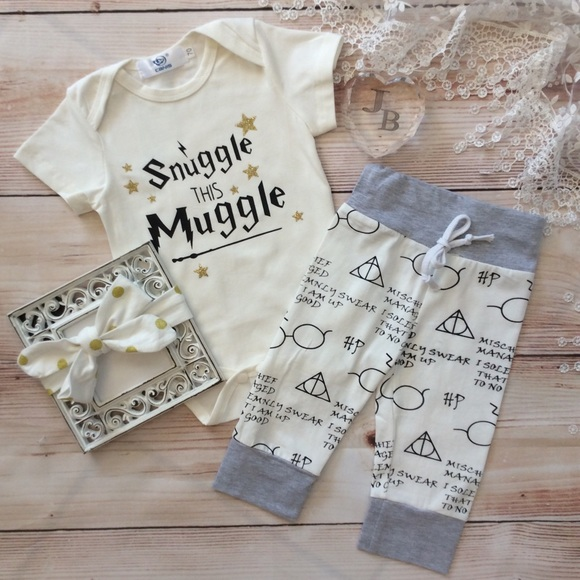 Boutique Baby Harry Potter 3pc Outfit 0b3d3195972